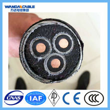 Cables for electrical oil well submersible pumps, oil/heat resistant, underground fire rated cable