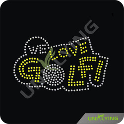 Special custom bling rhinestone love golf
