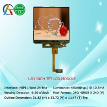 1.54'' tft lcd module with 31.82 (H) x 33.72 (V) x 1.147 (T) Typ
