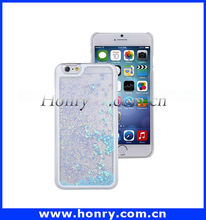 New product mobile phone case for iphone liquid cover shell, for iphone 6 glitter case