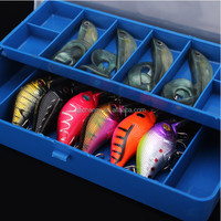 NEW Hot sale 2 Layers 11 Compartments Storage Case Fly Fishing Lure Spoon Hook Bait Tackle Case Box Fishing Accessories Tools