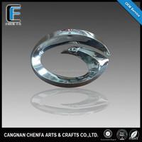 Custom made 3D ABS plastic emblem badge, pin badge, car chrome grille emblem