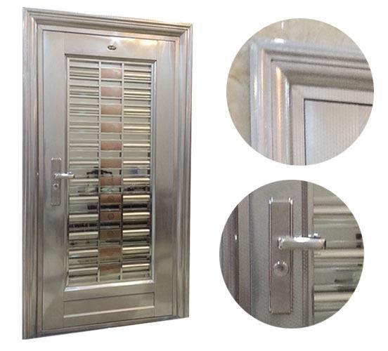 Standard size 2100 950cm 304 stainless steel gate design for Safety door design