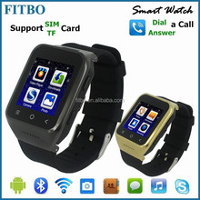 Hot Wearable WiFI Dual Core 5M Camera 3G wireless bluetooth android smart watch
