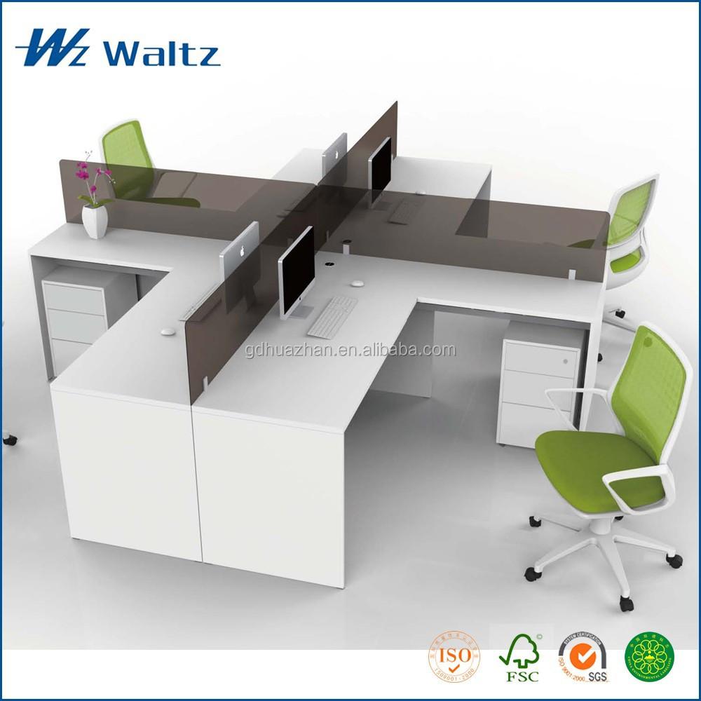 Full melamine panel acrylic partition office furniture standing desk