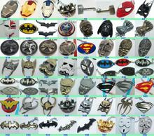 Thor's Hammer Metal Keychains /The Avengers Marvel Character Keyring Captain America Thor Hulk Batman KeyChains Keyrings