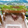 2015 el más nuevo diseño moderno balcón de aluminio pérgola