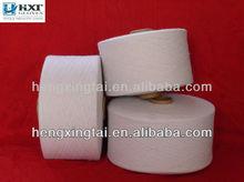 100% blanco de algodón hilado de algodón