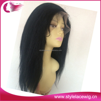 100% Virgin Brazilian Hair italian yaki human hair full lace wig