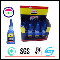 new style display box 401super glue with 20g plastic bottle pack, bond within a few seconds