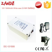 Portable DC 12V 15000mAh Rechargeable Li-ion Battery for CCTV Camera Wireless Camera/Baby Monitor, Digital Camera
