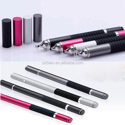 Slim Universal Capacitive Touch Screen Stylus Pen With 360 Degree Rotation Visual Transparent Disc Replaceable Drawing Stylus