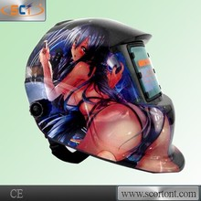 Hot sale CE approval HDPP(Fireproof) solar auto darkening custom welding helmet