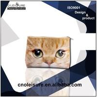 photo image printing animal cosmetic bag make up bag PVC cosmetic bag