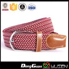 Men's Polyester Custom Two Tones Red Woven Belt