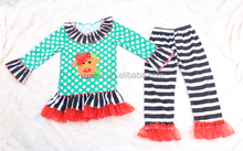 Wholesale Cheap Price Christmas Baby Clothing Set Casual Kids 2 Pcs Clothing Set Baby Long Sleeve Top Stripes Pant Set Baby Suit