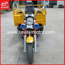 2015 New Hot Sale Yellow KV150ZH-A Three Wheel Tricycle Electric Motorized Adults Cargo Tricycle