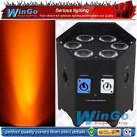 special hot sell modern unique battery operated wireless dmx led slim par 6pcs & fly case