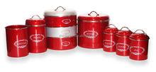 wholesale gift storage coated christmas canister set
