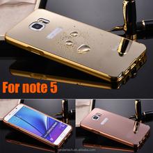 Aluminium luxurious chrome mirror case for Samsung galaxy note 5 metal bumper mirror case for Samsung galaxy note 5 cover