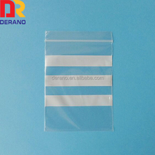ziplock bags with white stripes or block
