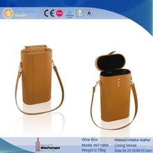 custom design Faux leather wine box & wine bag & wine carrier