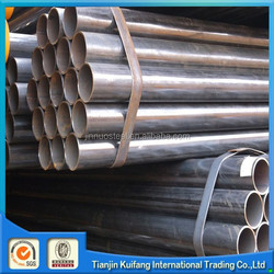 Black welded mild steel pipes scaffold materials