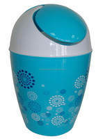 10Liter swing top round waste bin for offices & home