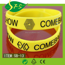 Custimized Popular Cheap Silicone Wristbands For Gift