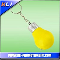 yellow lamp bulb shape tape measure with keychain