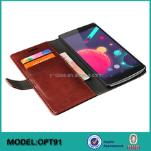 High-end genuine leather smartphone case for OnePlus two mobile phone leather case