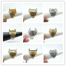 hot new product 2015 Indonesia titanium mens ring gemstone wholesale