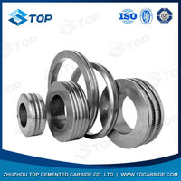 tungsten carbide cold rolling rings with three piece assembly