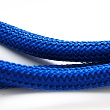 10mm Blue Braided Nautical Paracord, Blue Braided Rope Cord, Thick Necklace Rope, Semisoft Climbing Cord, 10mm, S 40 123