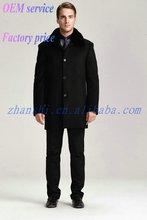 Latest Design Cheap Fashion Black men wool coat suit designs