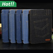 Fashion Stylish Denim Jeans Smart Cover Case with Auto Sleep Wake for iPad 2 3 4