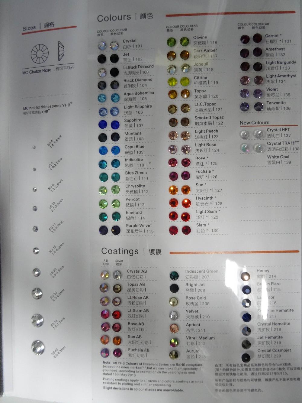High Quality DMC Color Chart