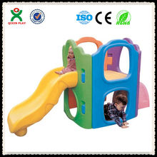 Interesting and safe and eco-friendly outdoor playground slide for sale/slider for kids/Chinese cheap slide QX-11118F