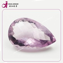 Decorative real crystal stone pear Cut Rough Amethyst Stone Prices