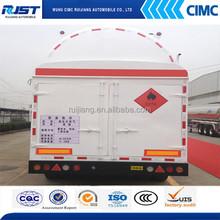 CIMC 3 axles Cryogenic liquid tank semi-trailer/fuel Tank Semi trailer