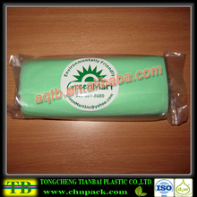 Environmental-friendly cheap large plastic green bag for garbage