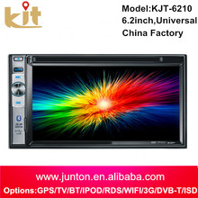 KJT fashion design Cheap car dvd with bluetooth with Rear view Camera with big USB+AUX SD card slot car radio Mp3 dvd player