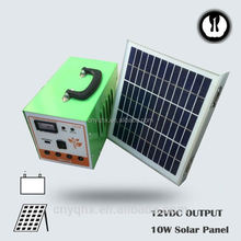 DC energy portable emergency controller solar power kit for house use with mobile charger with battery