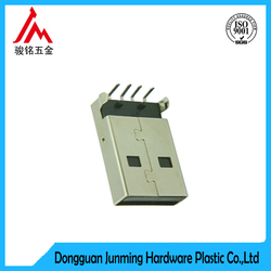 micro usb male pcb connector for PC charger