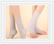 best selling products bamboo fiber 10 * 23 gray color breathable softable ankle wrap sleeve / brace / support