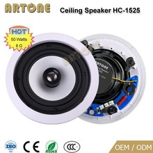 HC-1525 50W 2-way coaxial 8 ohm ceiling good quality speaker for home audio