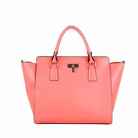 HD0197 Reshine High Quality Korean Colorful Simple Pink Fashion Hand Bags