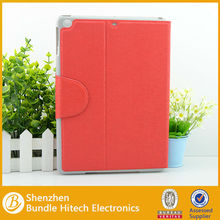 Red PU Leather Cover for ipad air,case for apple ipad 5