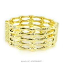 China Wholesale Open Bamboo Designed Bracelet Jewelry