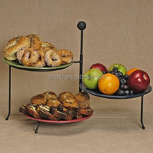 Metal Wire Triple Adjustable Serving Plate Stand Rack Holder